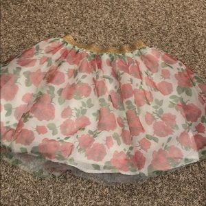Disney Beauty and the Beast rose tulle skirt 10/12
